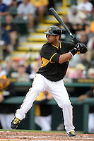 Outfielder Chris Dickerson (25) of the Pittsburgh Pirates during a spring training game against the New York Yankees on February 26, 2014 at McKechnie Field in Bradenton, Florida.  Pittsburgh defeated New York 6-5.  (Mike Janes/Four Seam Images)