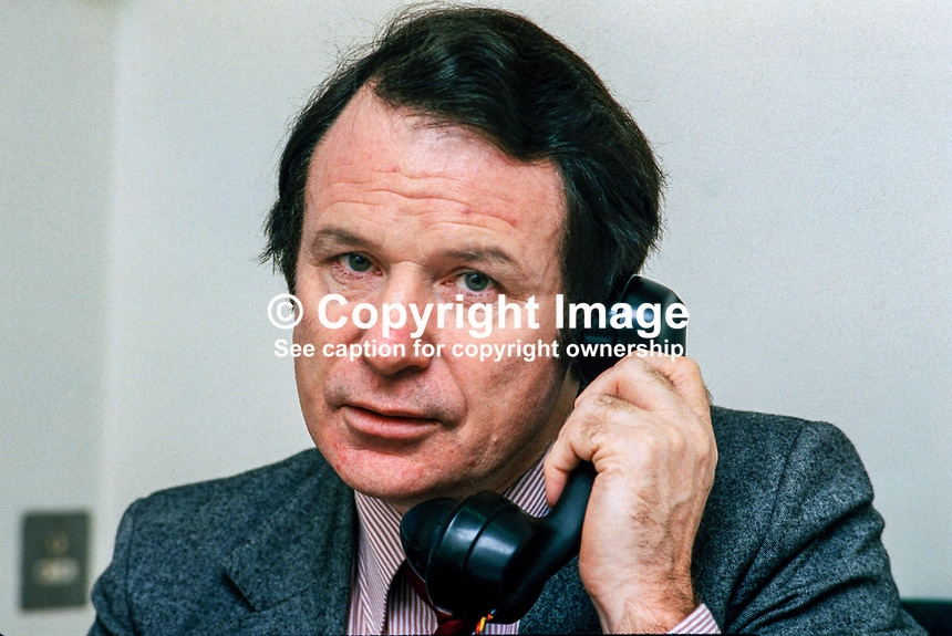 Ted Nealon, information officer, Fine Gael, Rep of Ireland, 197810070313TN2..Copyright Image from Victor Patterson, 54 Dorchester Park, Belfast, UK, BT9 6RJ..Tel: +44 28 9066 1296.Mob: +44 7802 353836.Voicemail +44 20 8816 7153.Skype: victorpattersonbelfast.Email: victorpatterson@mac.com.Email: victorpatterson@ireland.com (back-up)..IMPORTANT: If you wish to use this image or any other of my images please go to www.victorpatterson.com and click on the Terms & Conditions. Then contact me by email or phone with the reference number(s) of the image(s) concerned.