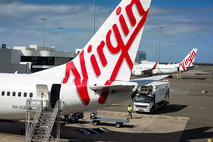 Virgin aeroplane at Sydney airport