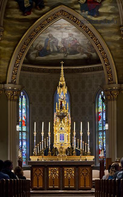 Aug. 3, 2013; Basilica of the Sacred Heart Interior<br /> <br /> Photo by Matt Cashore/University of Notre Dame