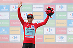 Miguel Angel Lopez Moreno (COL) Astana Pro Team retakes the leaders Red Jersey at the end of Stage 7 of La Vuelta 2019 running 183.2km from Onda to Mas de la Costa, Spain. 30th August 2019.<br /> Picture: Luis Angel Gomez/Photogomezsport | Cyclefile<br /> <br /> All photos usage must carry mandatory copyright credit (© Cyclefile | Luis Angel Gomez/Photogomezsport)