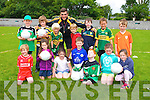 Front left to right, Sean Redican, Grace Hamilton, Lily Parker, Donnacha  Brosnan , Alex Dillan, Jessica McGibney, Clara O'Dowd.  Back left to right, Colm  McCrean , John O'Leary, Luke Bentley, Ciaran McCluskey,                        Aaron O'Sullivan, Ruri Boyd, Rory O'Carroll with coach David Griffin, enjoying the Churchill Cul Camp on Tuesday