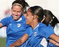 Alex Scott #22 of the Boston Breakers during a WPS match against the Washington Freedom on May 8 2010, at the Maryland Soccerplex, in Boyds, Maryland.The game ended in a 0-0 tie.