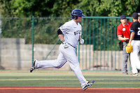15 July 2011: Catcher David Gauthier of the Rouen Huskies runs the bases following his home run during the 2011 Challenge de France match won 6-5 by the Rouen Huskies over the Senart Templiers at Stade Pierre Rolland, in Rouen, France.