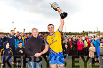 Beaufort captain Ronan Murphy lifts the cup after their victory over Glenbeigh/Glencar in the Mid Kerry final in Killorglin on Sunday