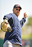 11 March 2011: Boston Red Sox Manager Terry Francona warms up prior to a Spring Training game against the Houston Astros at Osceola County Stadium in Kissimmee, Florida. The Red Sox defeated the Astros 9-3 in Grapefruit League action. Mandatory Credit: Ed Wolfstein Photo