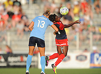 Boyds, MD - Saturday June 25, 2016: Kristin Grubka, Francisca Ordega during a United States National Women's Soccer League (NWSL) match between the Washington Spirit and Sky Blue FC at Maureen Hendricks Field, Maryland SoccerPlex.