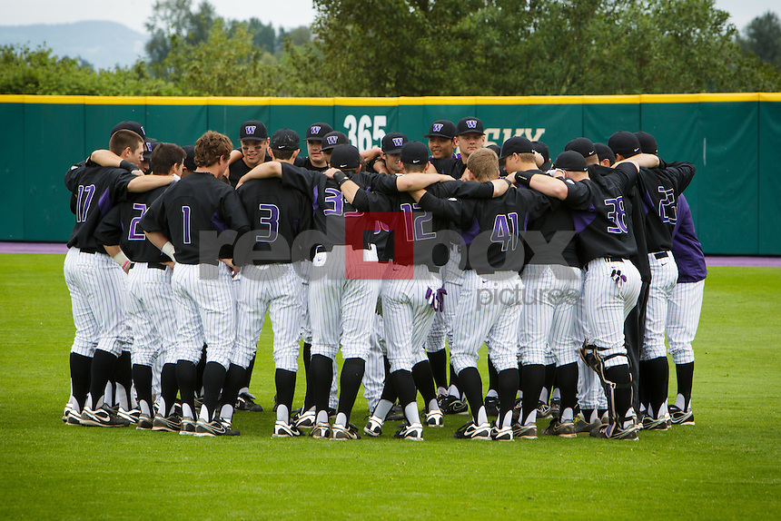 University of Washington Huskies baseball team honors its seniors before losing to Washington State University in Seattle Sunday, May 27, 2012. (Photos by Andy Rogers/Red Box Pictures)