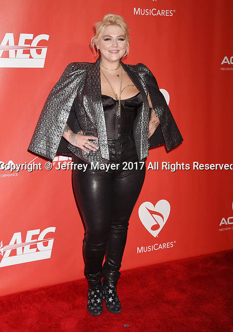 LOS ANGELES, CA - FEBRUARY 10: Singer-songwriter-actress Elle King attends MusiCares Person of the Year honoring Tom Petty at the Los Angeles Convention Center on February 10, 2017 in Los Angeles, California.