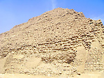 Close up of the Step Pyramid of Djoser at the Egyptian burial ground of Sakkara near Cairo, Egypt.