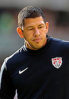 MEXICO CITY, MEXICO - AUGUST 15, 2012:  Nick Rimando (22) of the USA MNT  during an international friendly match against Mexico at Azteca Stadium, in Mexico City, Mexico on August 15. USA won 1-0.