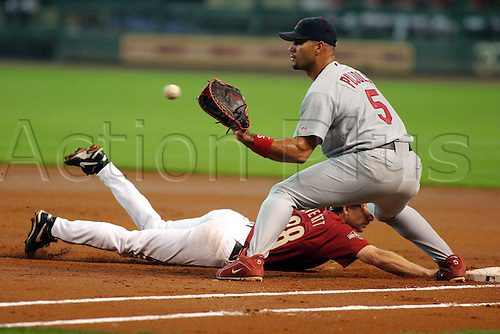 30 May 2004: Albert Pujols of the St. Louis Cardinals during the Cards 7-1 loss to the Houston Astros at Minute Maid Park in Houston, TX, USA. Photo: Jim Redman/Icon/actionplus...Baseball Major League MLB National League