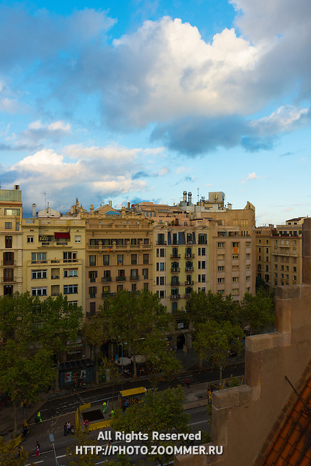 Classic Barcelona architecture from House of Batllo, Barcelona, Spain