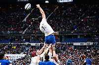9th February 20020, Stade de France, Paris, France; 6-Nations international mens rugby union, France versus Italy;  Charles Ollivon  of France  leaps high but misses the line-out ball