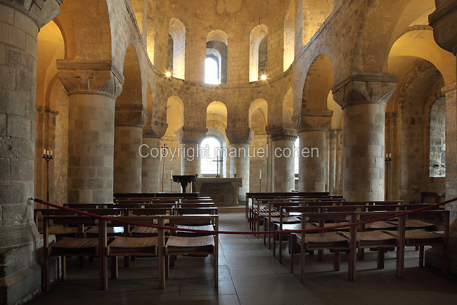 St John's Chapel, 1080, White Tower, Tower of London, London, UK. The austere white Caen stone Romanesque chapel is one of the finest surviving examples of Norman church architecture. Picture by Manuel Cohen