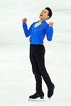TAIPEI, TAIWAN - JANUARY 24:  Nam Nguyen of Canada performs his routine at the Men Free Skating event during the Four Continents Figure Skating Championships on January 24, 2014 in Taipei, Taiwan.  Photo by Victor Fraile / Power Sport Images *** Local Caption *** Nam Nguyen