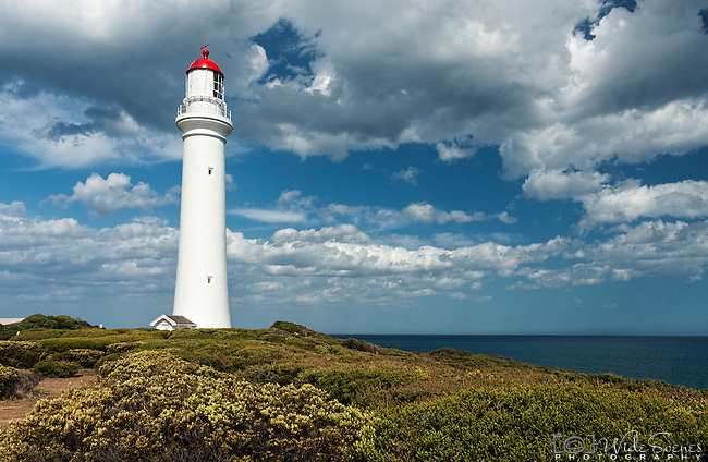 Split Point Lighthouse at Aireys Inlet on Great Ocean Road, VIC, Australia