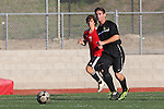 Palos Verdes, CA 02/03/12 - Sam Teles (Peninsula #13) in action during the Peninsula vs Palos Verdes boys varsity soccer game.