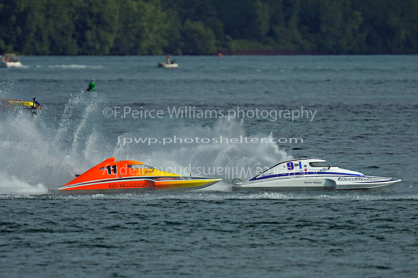 "Steve Armstrong, CS-11 ""Total Chaos"" and Mike Monahan, S-91/S-9 ""Rewinder""  (2.5 Litre Stock hydroplane(s)"