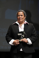 September 3, 2012 - Montreal (Qc) CANADA -  <br />  Montreal World Film Festival closing ceremonies - Martine Chartrand, winner 1st prize short film and winner Award for Best Canadian Short Movie , for the animation  MACPHERSON