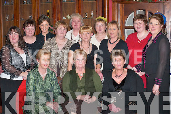 GET-TOGETHER: Enjoying Womens Christmas in the River Island Hotel, Castleisland, last Saturday night were, front row l-r: Jane Ann ODonoghue and Sadie Sawyer, Brosna, and Peg ODonoghue, Knocknagoshel. Back row l-r: Mary Ann Casey, Margaret OConnor and Lisa ODonoghue, Brosna, Mary OMahony, Cordal, Noreen Thompson, Knocknagoshel, Winifred OShea, Brosna, Sheila ODowd, Castleisland, Marian Leahy, Brosna, Martina ODowd and Mairead Brosnan, Knocknagoshel..