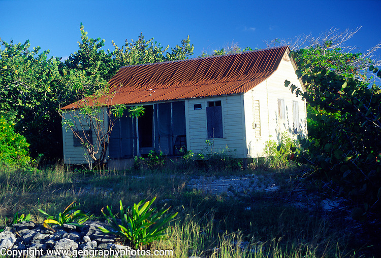Abandoned house, Cayman Brac, Cayman Islands, British West Indies,
