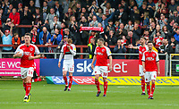 Fleetwood Town players react after Accrington Stanley's equaliser <br /> <br /> Photographer Alex Dodd/CameraSport<br /> <br /> The EFL Sky Bet League One - Fleetwood Town v Accrington Stanley - Saturday 15th September 2018  - Highbury Stadium - Fleetwood<br /> <br /> World Copyright &copy; 2018 CameraSport. All rights reserved. 43 Linden Ave. Countesthorpe. Leicester. England. LE8 5PG - Tel: +44 (0) 116 277 4147 - admin@camerasport.com - www.camerasport.com