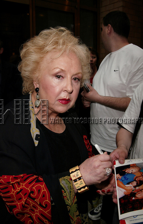 Doris Roberts attending the CBS TV Network 2004-2005 Upfront Announcements at Tavern on the Green in New York Cityon on May 19, 2004