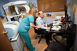 DOBBS FERRY, NY - FEBRUARY 03, 2011:  Dr. Edward Zuckerberg, D.D.S.,  father of Facebook founder Mark Zuckerberg, works in his dental practice on February 03, 2011 in Dobbs Ferry, NY.  (Photo by Michael Nagle)