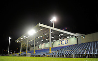 27th October 2014; SSE Airtricity League Promotion Playoff, Leg 1, UCD v Galway FC, UCD Bowl, Belfield, Dublin. <br /> A general view of the main stand at the UCD Bowl ahead of the game.<br /> Picture credit: Tommy Grealy/actionshots.ie.