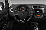 Car pictures of steering wheel view of a 2018 Mitsubishi Mirage-G4 SE-CVT 4 Door Sedan Steering Wheel