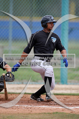 March 29, 2010:  Outfielder Eric Eiland (61) of the Toronto Blue Jays organization during Spring Training at the Englebert Minor League Complex in Dunedin, FL.  Photo By Mike Janes/Four Seam Images