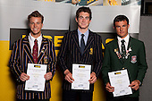 Yachting Boys finalists Jordan McKenzie-Brown, Logan Dunning-Beck and Chris Steele. ASB College Sport Young Sportsperson of the Year Awards held at Eden Park, Auckland, on November 11th 2010.