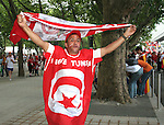 19 June 2006: A Tunisia fan. Spain played Tunisia at the Gottlieb-Daimler Stadion in Stuttgart, Germany in match 31, a Group H first round game, of the 2006 FIFA World Cup.