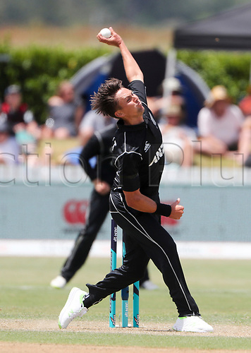 20th December, 2017, Whangarei, New Zealand;  New Zealand's Trent Boult. New Zealand Black Caps versus West Indies, first One Day International cricket, Cobham Oval, Whangarei, New Zealand. Wednesday, 20 December, 2017.