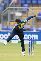 Nuwan Pradeep (Sri Lanka) in action during Afghanistan vs Sri Lanka, ICC World Cup Cricket at Sophia Gardens Cardiff on 4th June 2019