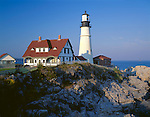 Cumberland County, ME<br /> Portland head Lighthouse (1791) on Cape Elizabeth, Maine's oldest lighthouse