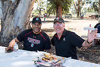 STANFORD, CA -- April 14, 2018. <br /> Tailgate with former players before the 2018 Stanford Spring Football game Saturday afternoon at the Laird Q. Cagan Stadium.