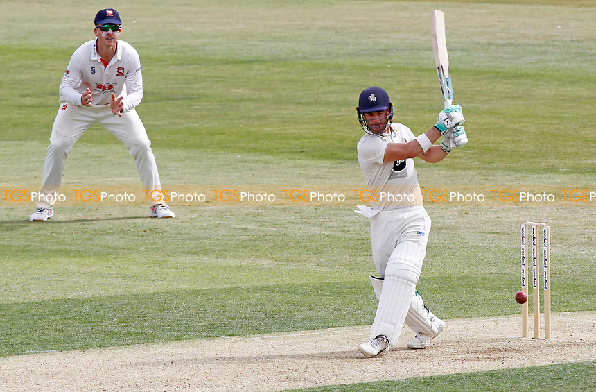 Heino Kuhn of Kent hits out during Essex CCC vs Kent CCC, Bob Willis Trophy Cricket at The Cloudfm County Ground on 1st August 2020