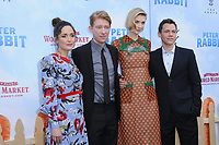03 February 2018 - Los Angeles, California - Rose Byrne, Domhnall Gleeson, Elizabeth Debicki, Will Gluck. &quot;Peter Rabbit&quot; Los Angeles Premiere held at The Grove. <br /> CAP/ADM/BT<br /> &copy;BT/ADM/Capital Pictures