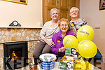 Mary Keogh who survived cancer twice and has been volunteering with local Irish Cancer Society for the past 27 years here with Noreen Queally and Helena Carmody
