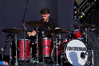 Pictured: Drummer for Tom Grennan. Saturday 13 July 2019<br /> Re: Stereophonics live concert at the Singleton Park in Swansea, Wales, UK.
