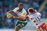 Vereniki Goneva of Leicester Tigers in possession. Aviva Premiership match, between Leicester Tigers and Gloucester Rugby on April 2, 2016 at Welford Road in Leicester, England. Photo by: Patrick Khachfe / JMP