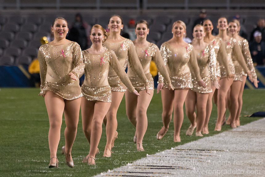 Members of the Pitt Golden Girls perform. The Virginia Tech Hokies defeated the Pitt Panthers 39-36 on October 27, 2016 at Heinz Field in Pittsburgh, Pennsylvania.