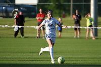 Kansas City, MO - Saturday May 28, 2016: FC Kansas City midfielder Erika Tymrak (15). FC Kansas City defeated Orlando Pride 2-0 during a regular season National Women's Soccer League (NWSL) match at Swope Soccer Village.