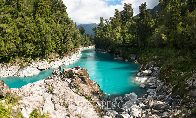 People enjoying Hokitika River, South Westland, West Coast, New Zealand, NZ