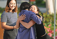 (Photo by John Valenzuela, Freelance)<br /> <br /> Asian Pacific Islander (API) Graduation Celebration in the Academic Quad, May 18, 2018.<br /> <br /> Cultural Graduation Celebrations are an opportunity for smaller groups to come together and acknowledge students' accomplishments with family and friends while celebrating the rich diversity of our campus. The Office of Intercultural Affairs partners with cultural organizations to coordinate the events.<br /> <br /> (Photo by John Valenzuela, Freelance)