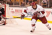 Jake Horton (Harvard - 19) - The Harvard University Crimson defeated the Northeastern University Huskies 4-3 in the opening game of the 2017 Beanpot on Monday, February 6, 2017, at TD Garden in Boston, Massachusetts.