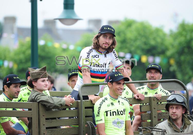 Picture by Simon Wilkinson/SWpix.com 30/06/2016 - Cycling Tour de France 2016. TDF, Team Presentation Sainte - Mere Eglise<br /> Peter Sagan<br /> copyright picture - Simon Wilkinson - simon@swpix.com
