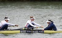 Caversham. Berkshire. UK<br /> left to right Jessica EDDIE, Olivia CARNERIE-BROWN and Cox, Zoe de TOLEDO.<br /> 2016 GBRowing European Team Announcement,  <br /> <br /> Wednesday  06/04/2016 <br /> <br /> [Mandatory Credit; Peter SPURRIER/Intersport-images]